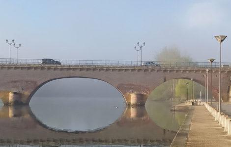 lever du jour sur la Garonne
